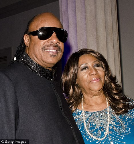 Stevie Wonder & Aretha Franklin. Photo: GettyImages.com