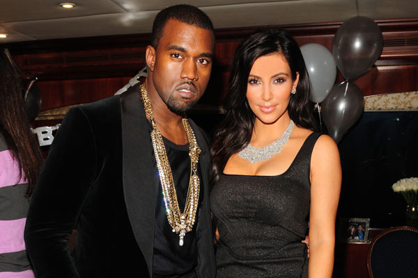 Kanye West & Kim Kardashian.  Photo:  GettyImages.com