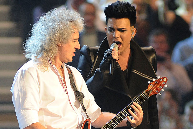 Brian May & Adam Lambert. Photo: AP