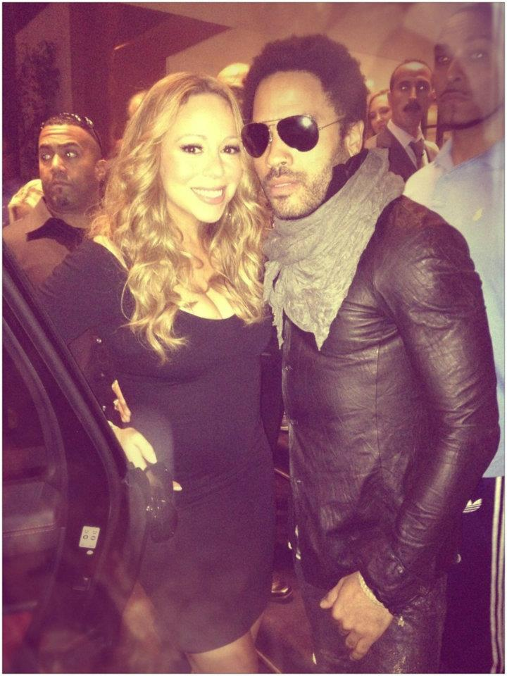 Mariah Carey &amp; Lenny Kravitz. Photo: Mathieu Bitton