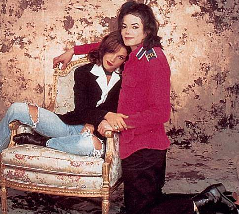 Michael Jackson &amp; Lisa Marie Presley. File Photo