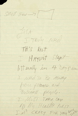 Hand Written Letter By Michael Jackson