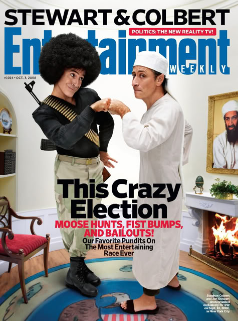 The Entertainment Weekly Stewart Colbert Cover.  Photo: Ew.com