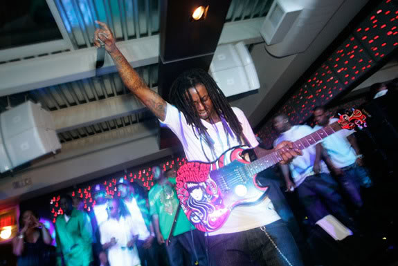 Lil Wayne; While His Guitar Gently Bleeds.  File Photo