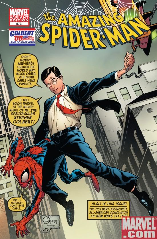 The Amazing Stephen Colbert.  Cover Exclusive:  Marvel.com