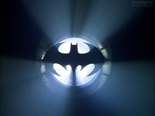 That Bat-Signal.  Photo: Warner Bros. Films