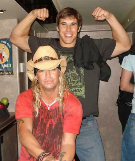 Brady Quinn & Bret Michaels.  Photo: Uncredited