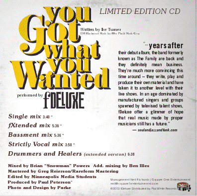 FDeluxe You Got What You Wanted Single Back Cover