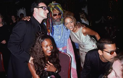 George Clinton, Sheila E., Bono, Naomi Campbell.  File Photo