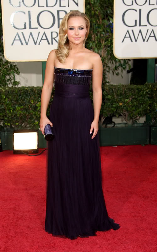 Hayden Panettiere Gets Her Purple On At The Red Carpet.  Photo: Wireimage.com