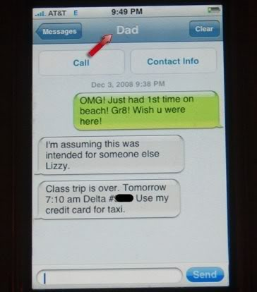 The Iphone. Great For Telling Your Dad You Are Getting Sexed Up!  Photo: Thechive.com