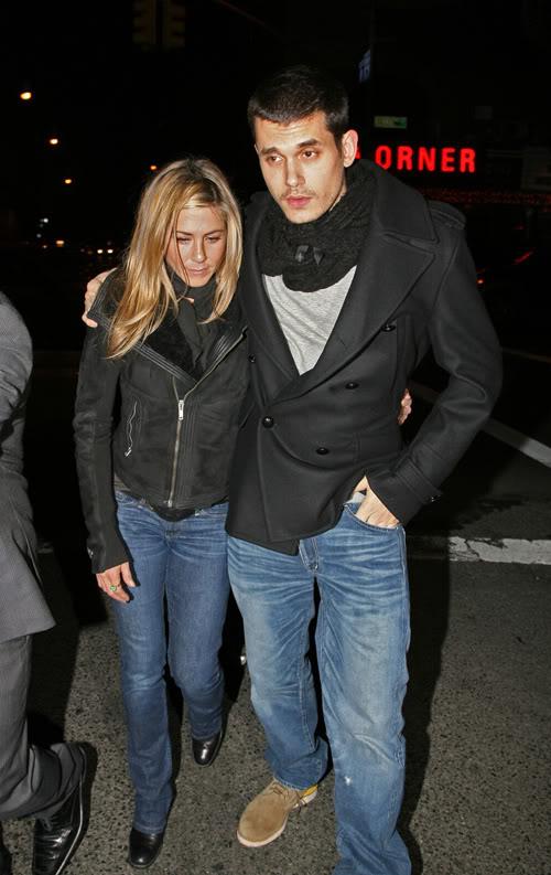 Jennifer Aniston & John Mayer In New York Thursday.  Photo: Splashnewsonline.com