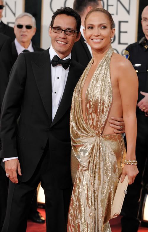 Marc Anthony & Jennifer Lopez Appear United At Golden Globes.  Photo: Wireimage.com