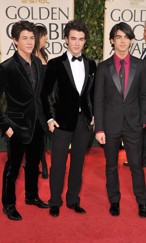 The Jonas Brothers Attend The Globes.  Photo: Gettyimages.com