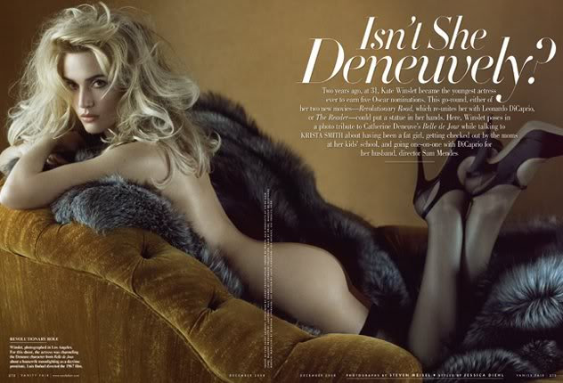 Kate Winslets Steaming Vanity Fair Cover Shoot.  Photo: VanityFair.com