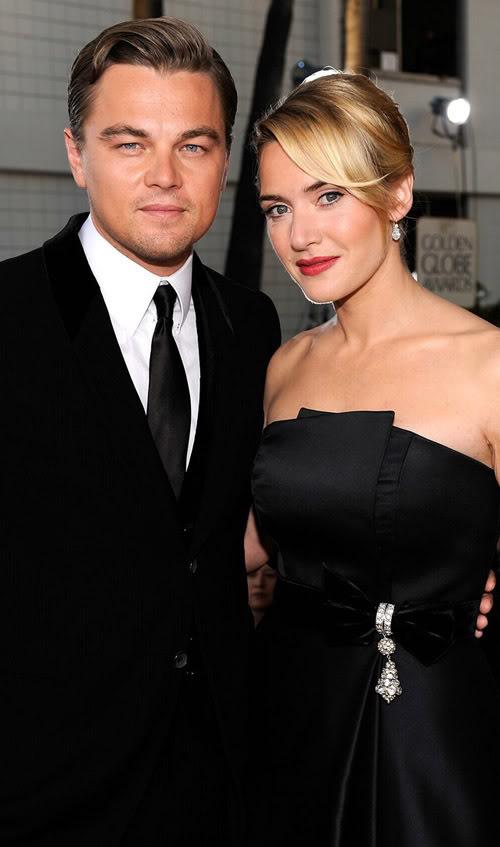 Kate Winslet & Leonardo DiCaprio On GG Red Carpet.  Photo: Wireimage.com