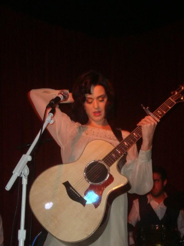 Katy Perry Performs At Hotel Cafe In Hollywood.  Photo: C.B .