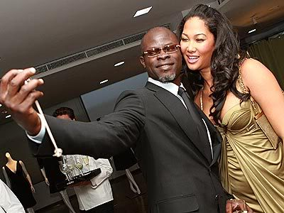 Kimora Lee Simmons and Djimon Hounsou.  File Photo