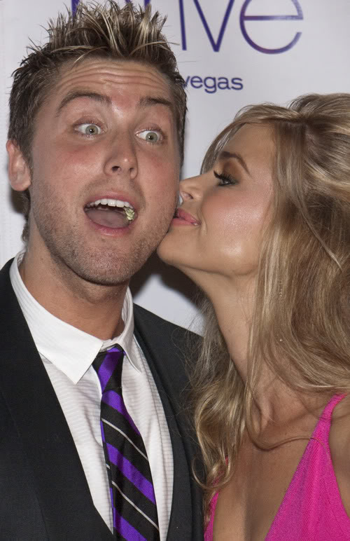 Lance Bass With Denise Richards & Her Weird Nose.  Photo: Wenn.com