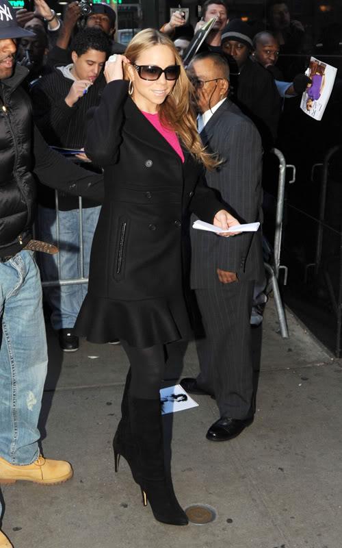 Mariah Arriving at GMA Studios in New York.  Photo: Pacificcoastnewsonline.com