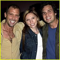 Mark & Scott Ruffalo With Unknown Female.  File Photo