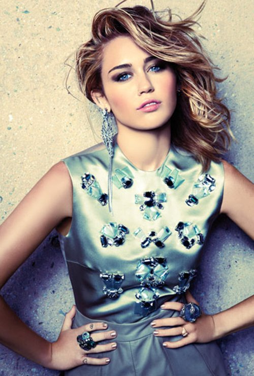 Miley Cyrus Photo: Tesh for Marie Claire