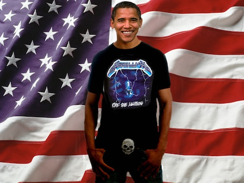 Obama Digs Metallica Anyway