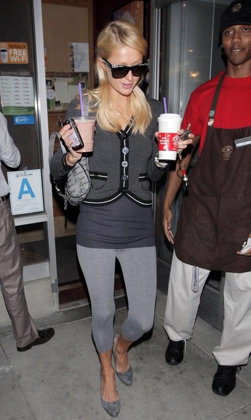 Paris Hilton Gets Her Hot N Cold Beverages.  Photo: Wenn.com