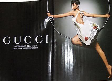 Rihannas Gucci Ad.  Photo:  Gucci