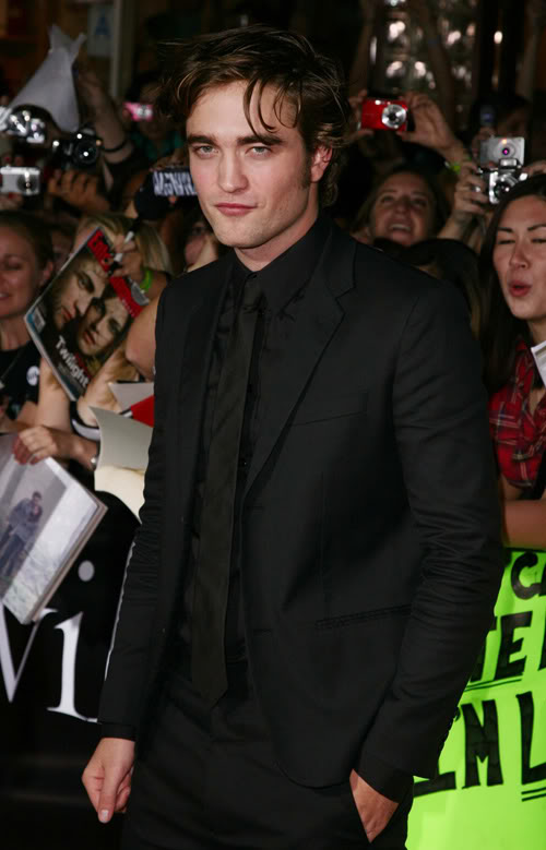 Robert Pattinson At Twilight Premiere.  Photo: Getty Images