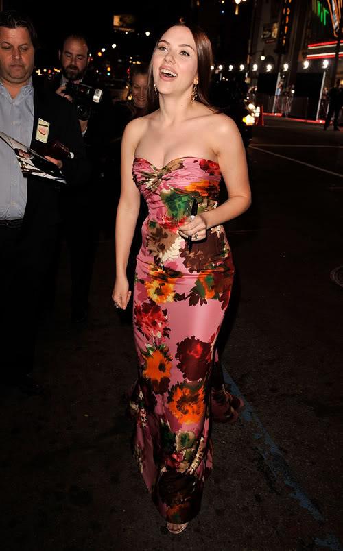 Scarlett Johansson Is A Flower.  Photo: Wireimage.com