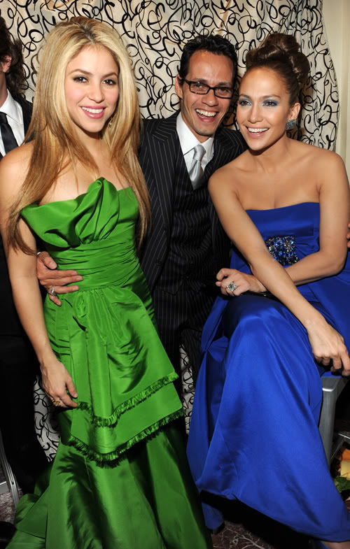 Shakira, Marc Anthony, & Jennifer Lopez.  Photo: Wireimage.com