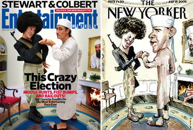 Parody Is Right On!  Covers: New Yorker & EW