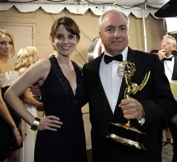 Lorne Michaels & Tina Fey & Another Emmy. File Photo
