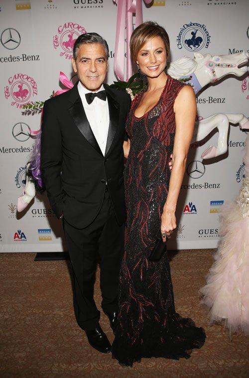 George Clooney & Stacy Kiebler  Photo:  GettyImages.com