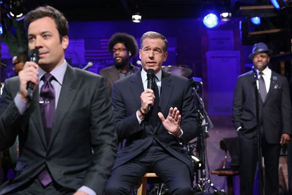 Jimmy Fallon, Brian Williams &amp; The Roots Photo: NBC.com
