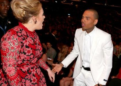 Adele &amp; Chris Brown Photo: GettyImages.com