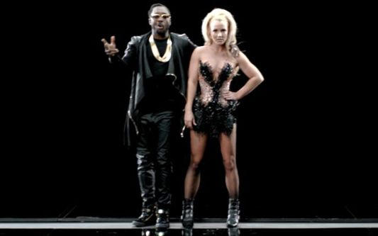 Britney Spears &amp; Will.I.Am.  Photo Cap: HipHopWired.com
