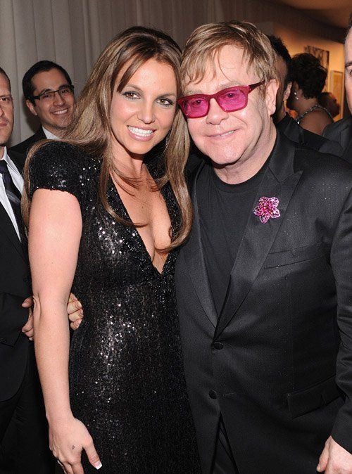 Britney Spears &amp; Elton John Photo:  GettyImages.com