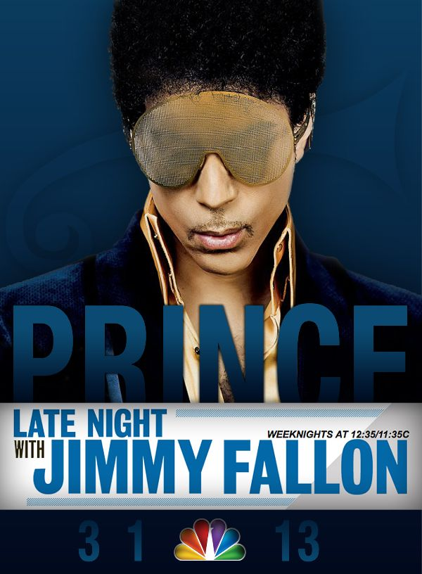Prince On Jimmy Fallon  Image Credit: Lydia 