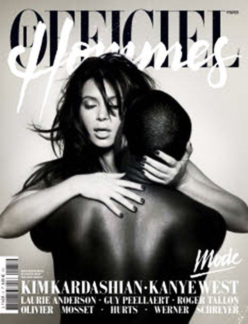 Kim Kardashian & Kanye West Photo: L'Officiel Hommes