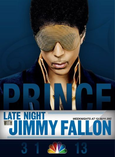 PRINCE On Fallon  Image Created By: Frederic Bianco
