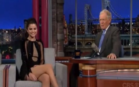 Selena Gomez & David Letterman Photo: Viacom.com