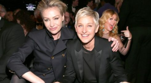 Portia &amp; Ellen DeGeneres &amp; Kelly Clarkson  Photo: GettyImages.com