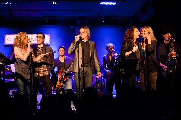 Fred Armisen, Members of Deluxe, Maya Rudolph's Princess and the Roots perform at City Winery in New York during the open rehearsal for the Prince tribute concert. Griffin Lotz for RollingStone.com