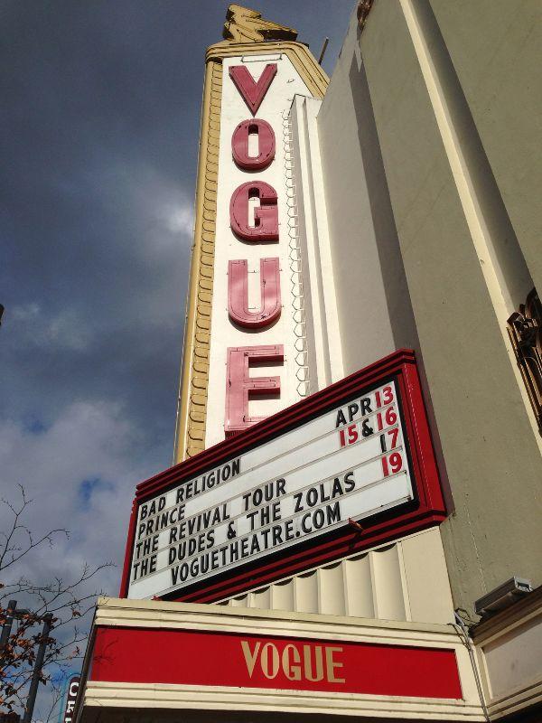 The Vogue Theatre, Vancouver BC