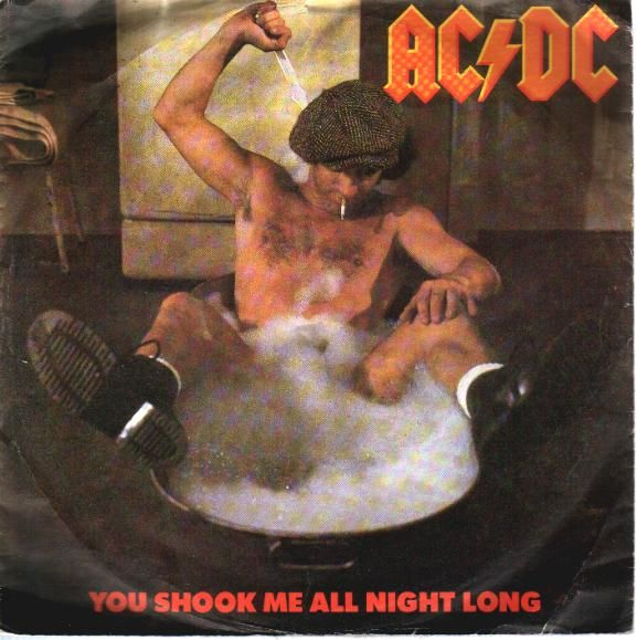 "Ac/Dc ""Shook Me All Night Long"" Single Cover Photo: Fridirock.com"
