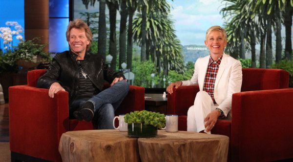 Jon Bon Jovi & Ellen Photo: Ellen.Com