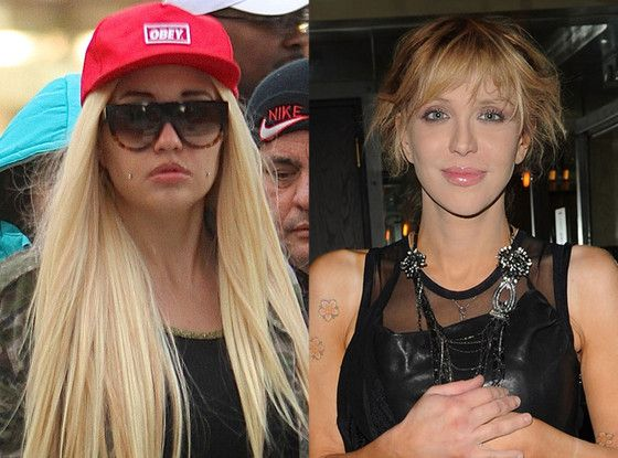 Amanda Bynes & Courtney Love Photo: Eonline.com