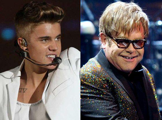 Justin Bieber & Elton John Photo: ETonline.com